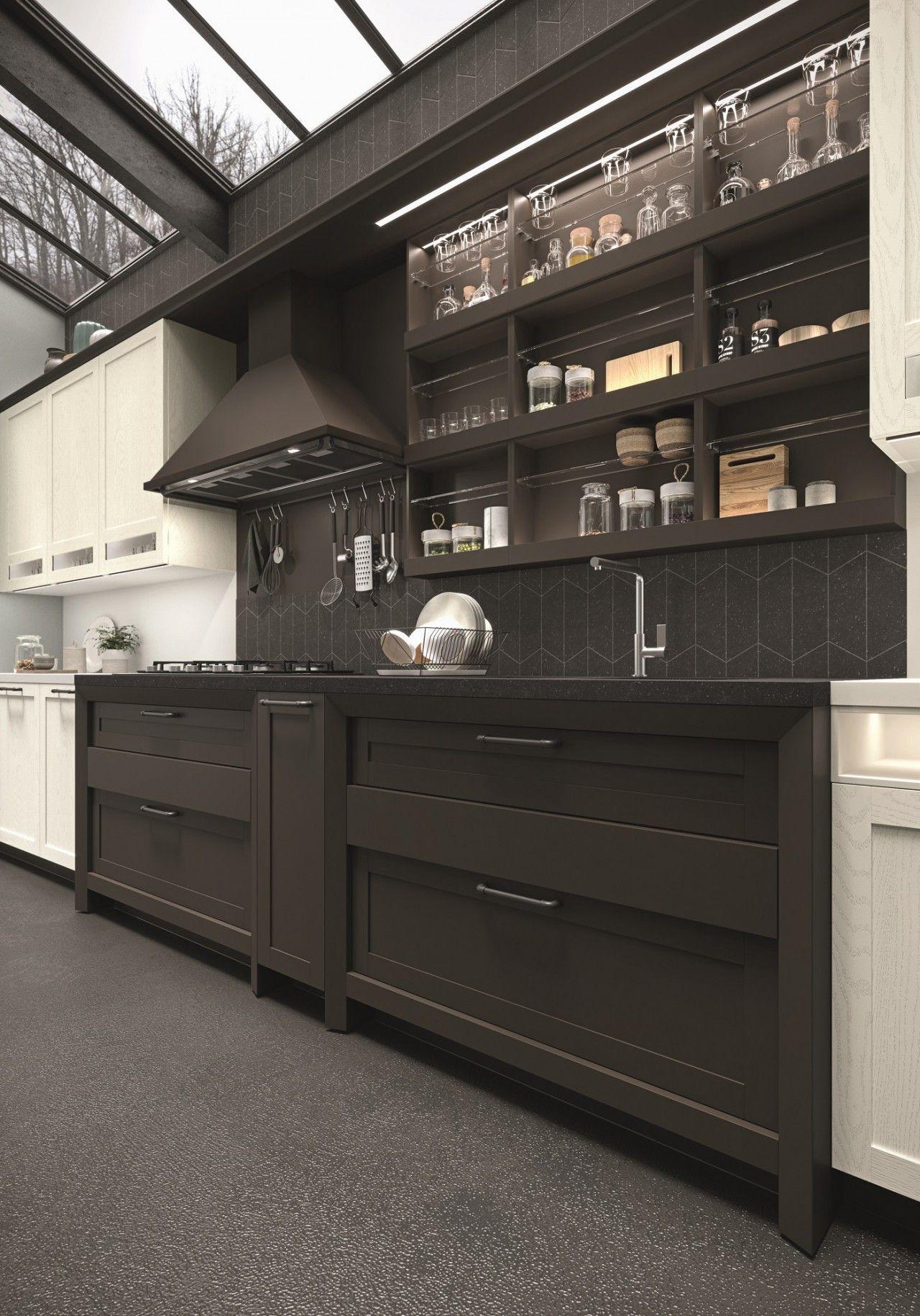 Cucina classica: design pulito in stile classico contemporaneo con ...