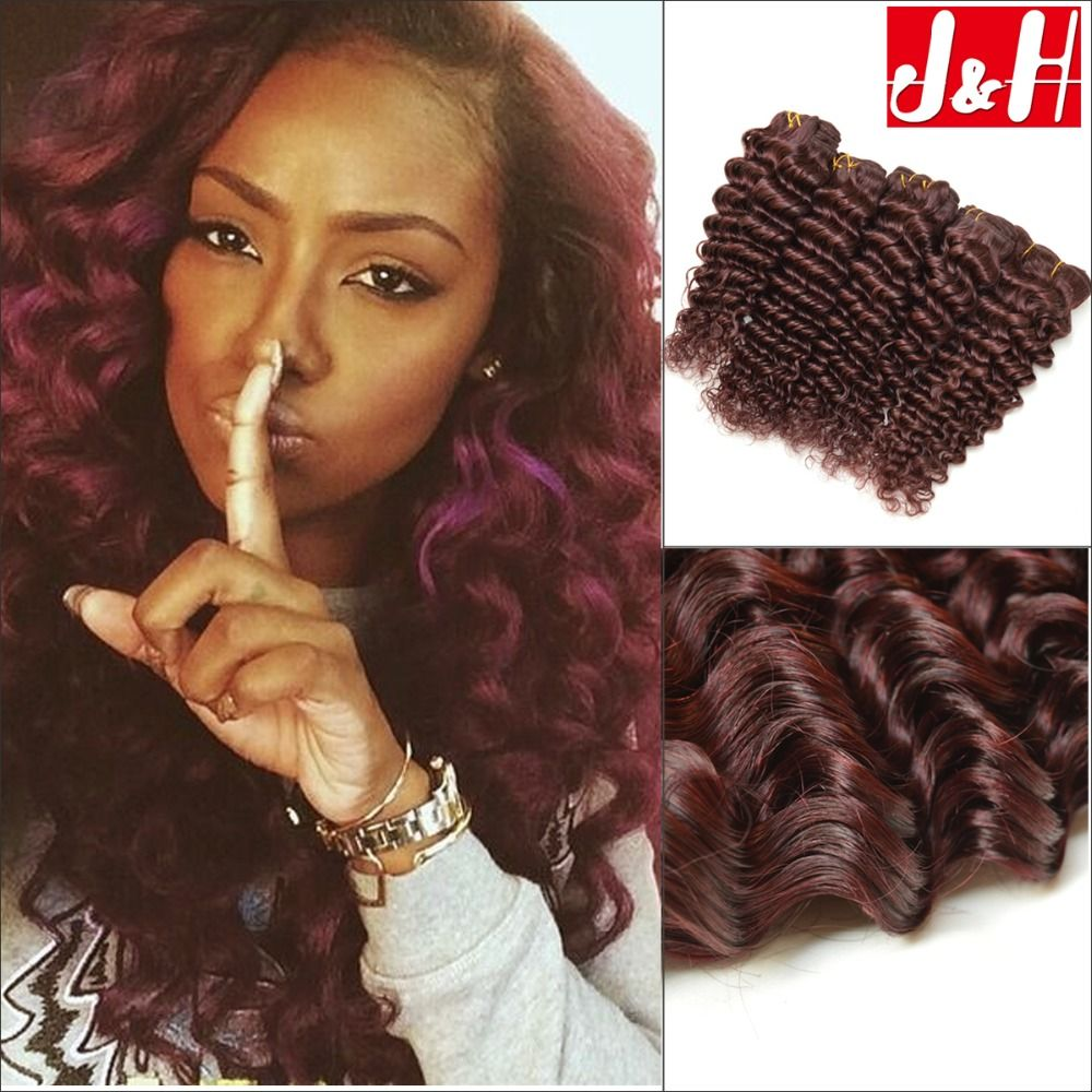 4pcs lot 7a brazilian virgin hair deep wave red human hair 4pcs lot 7a brazilian virgin hair deep wave red human hair extensions burgundy curly hair weaves pmusecretfo Image collections