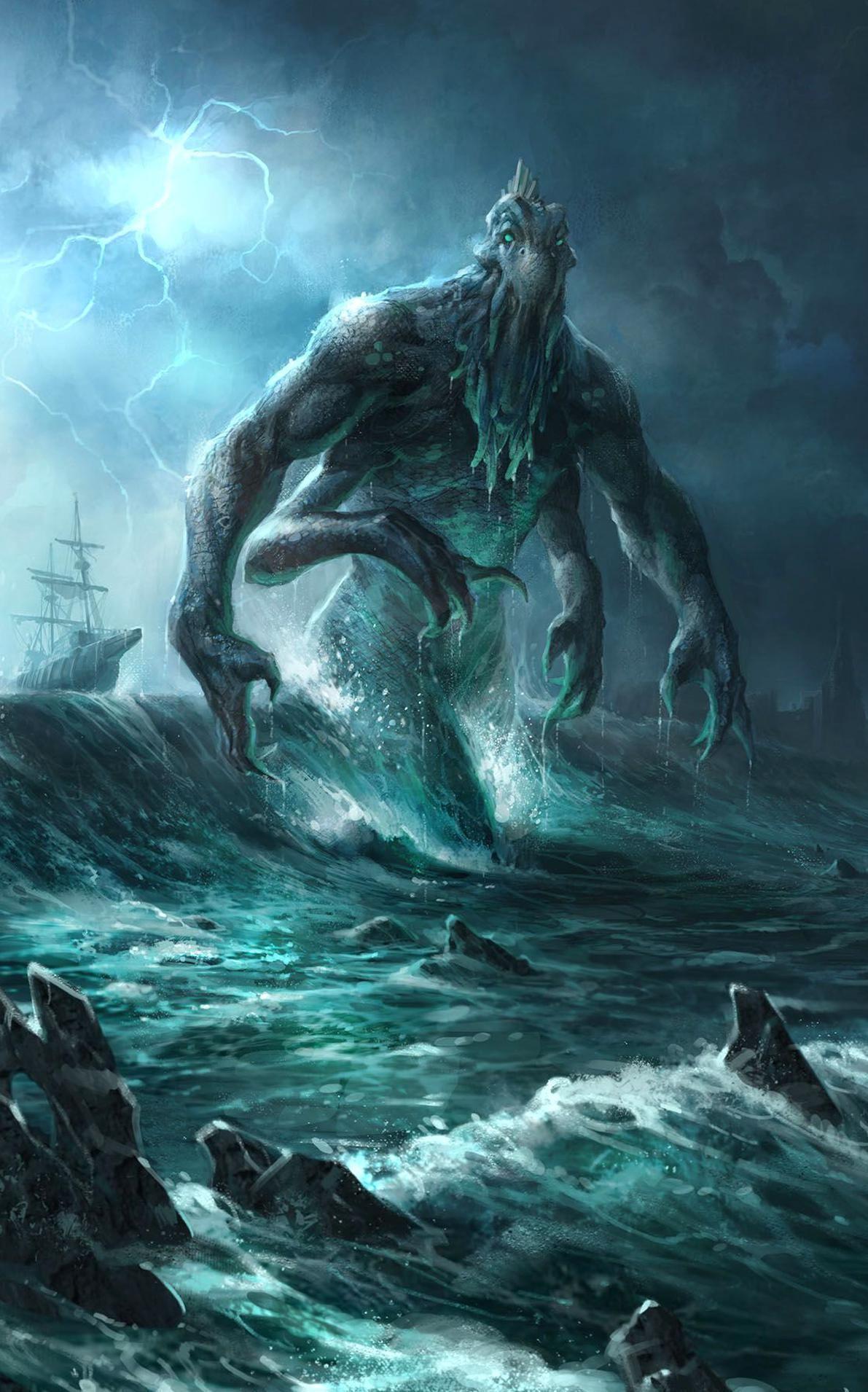 sea creature #sea #creature #monster #gigant #giant #ocean #dark #fant