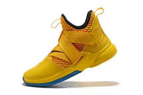 e221a52047b7 Newest Nike LeBron Soldier 12 Cavs Yellow Black-Blue Mens Basketball Shoes