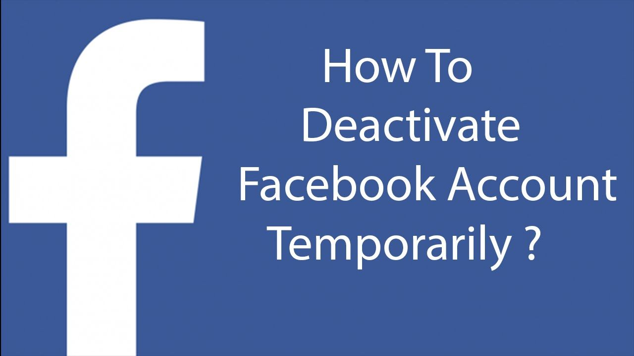 How To Deactivate Your Facebook Account Temporarily -28