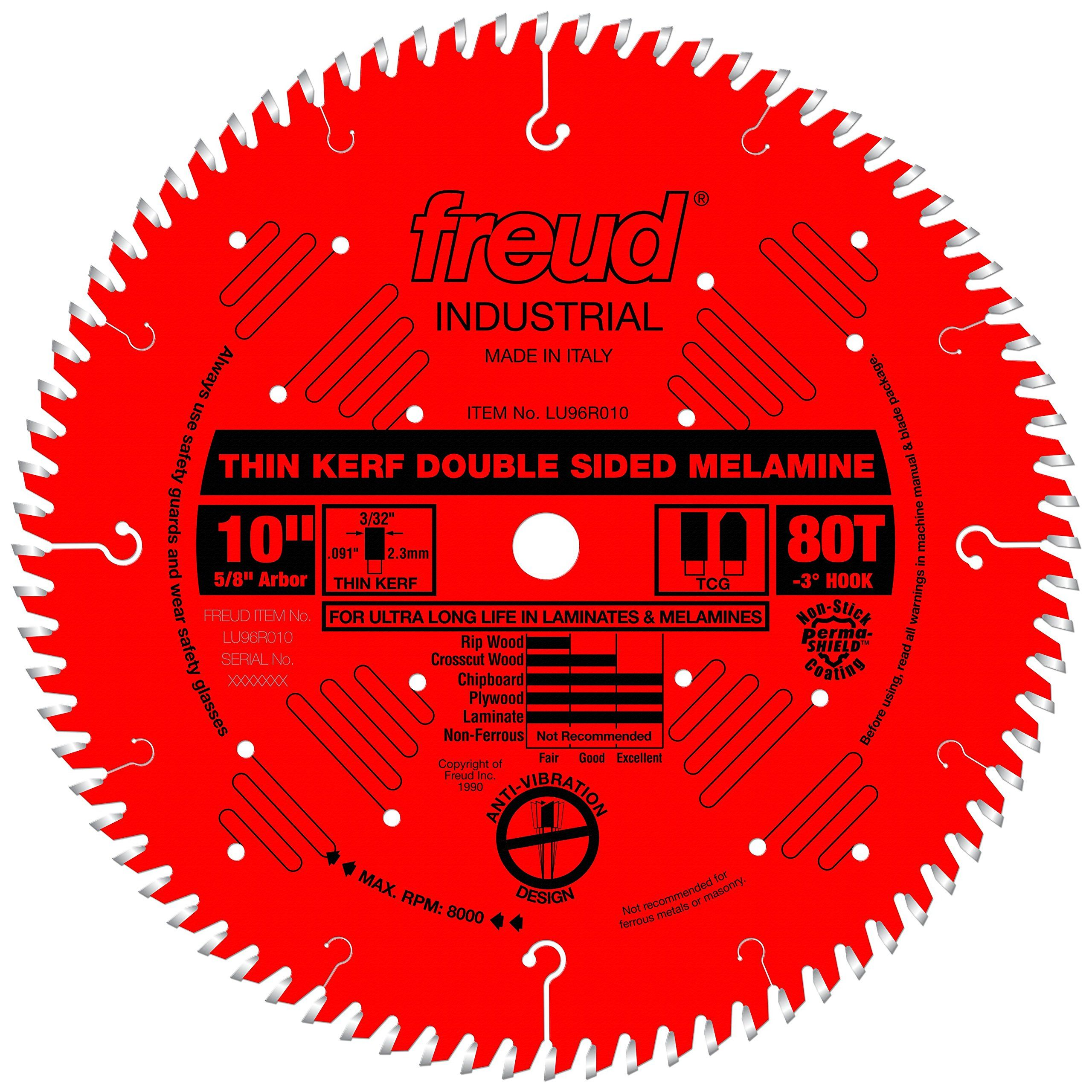 Freud 10 X 80t Thin Kerf Double Sided Laminate Melamine Lu96r010 You Can Find Out More Details At The Link Of Table Saw Blades Circular Saw Blades Table Saw