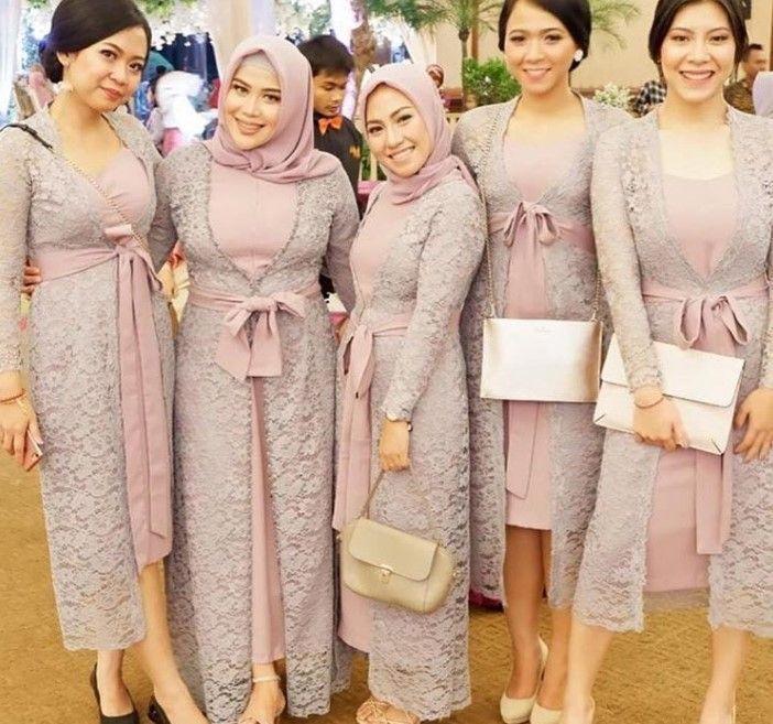 100 Inspirasi Model Baju Gamis Brokat Terbaru 2019 Kekinian Dan Modern Wikipie Co Id Informasi Tips Da Pakaian Pesta Pakaian Pengiring Pengantin Gaun Hijab