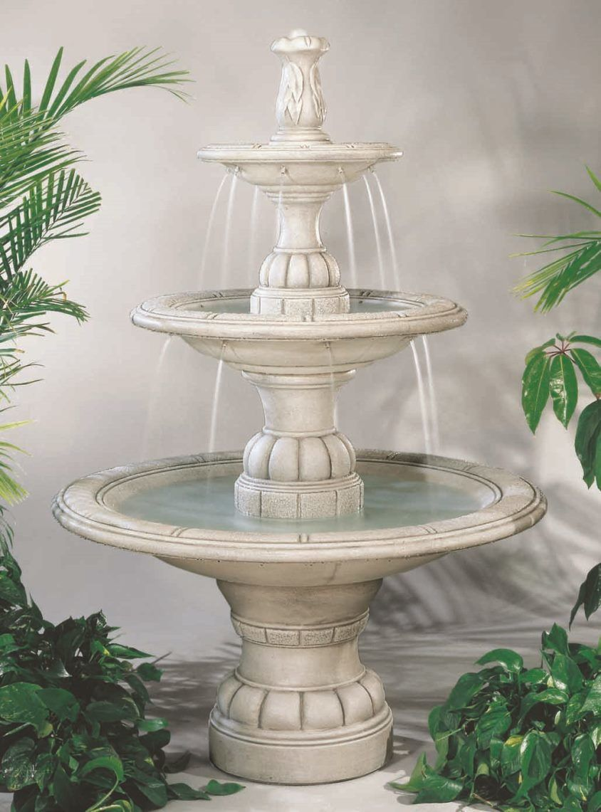 large outdoor water fountains for sale on large contemporary tiered cast stone fountain by henri studio waterfall fountain fountains outdoor stone fountains pinterest