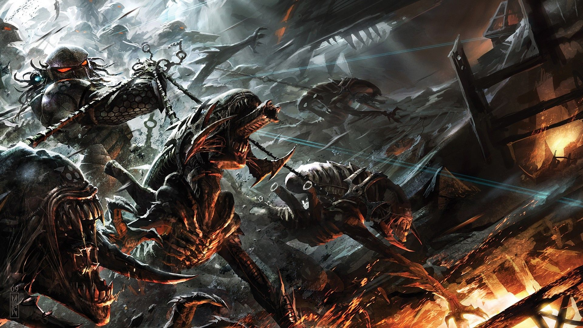 Science Fiction Xenomorph Predator Alien Vs Predator