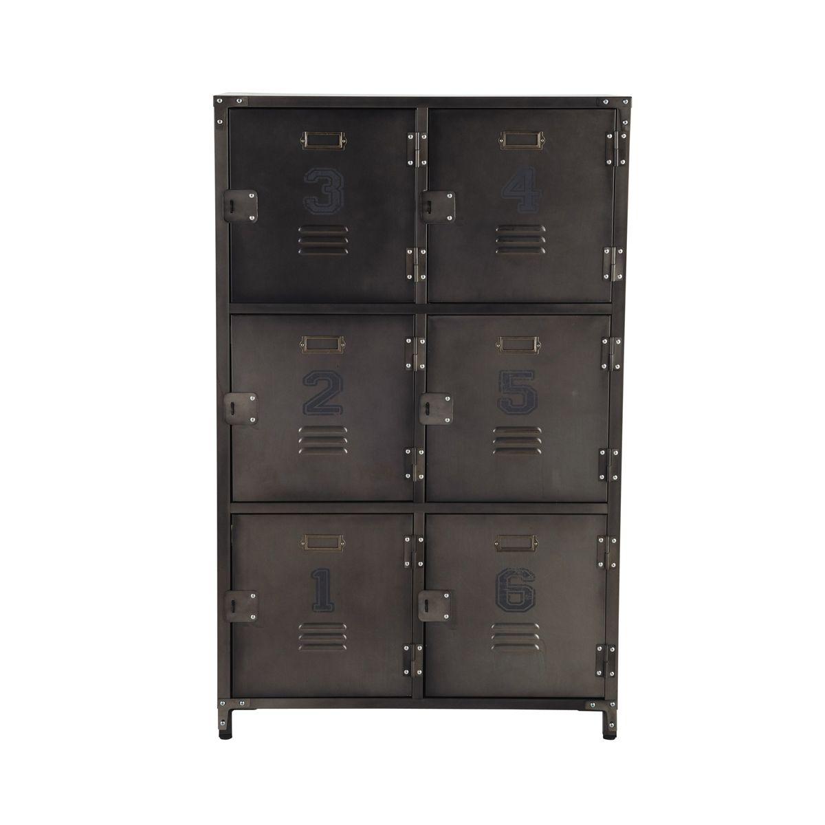 Bargue o de metal de estilo industrial 6 cajones andrews 120x75x35 decoracion pinterest - Cajonera estilo industrial ...