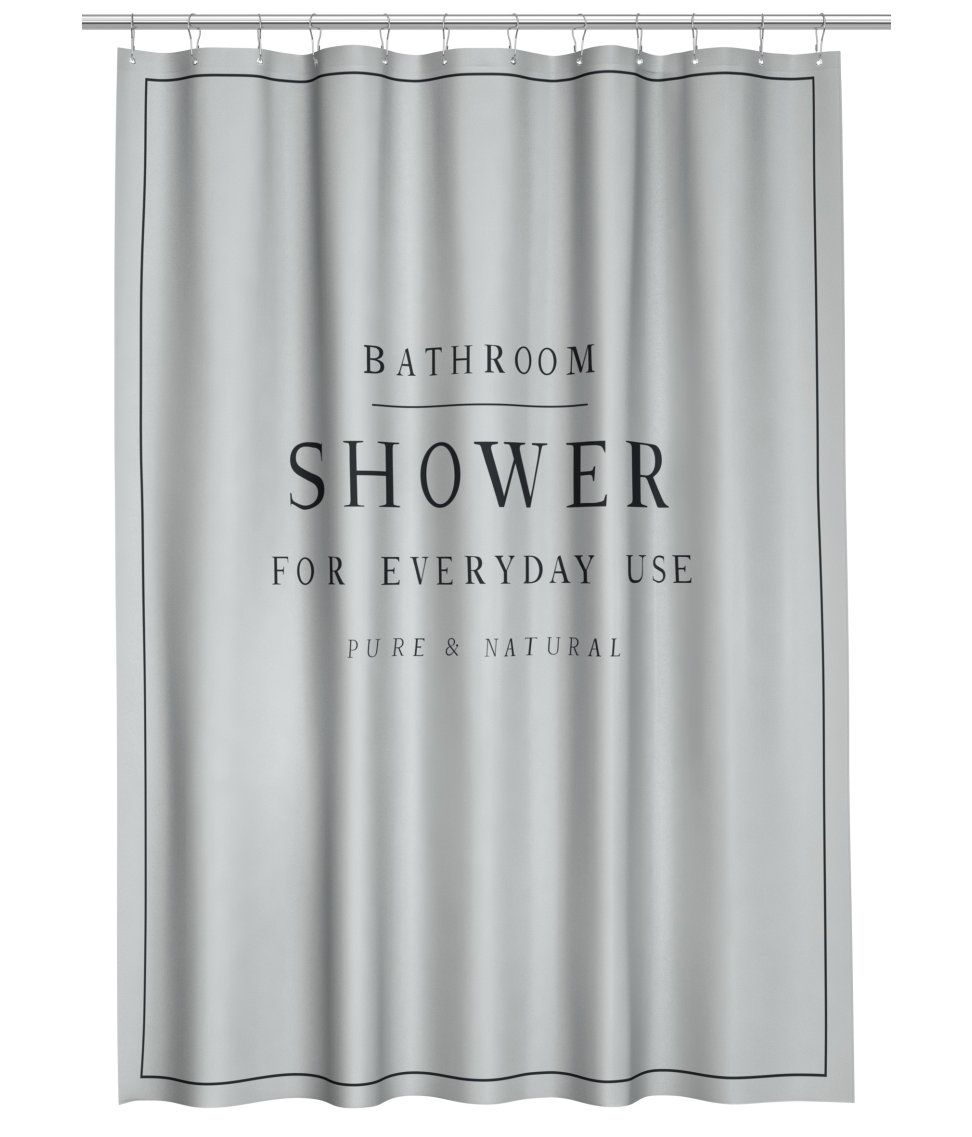 ¡Echa un vistazo! Cortina de ducha en poliéster repelente ...