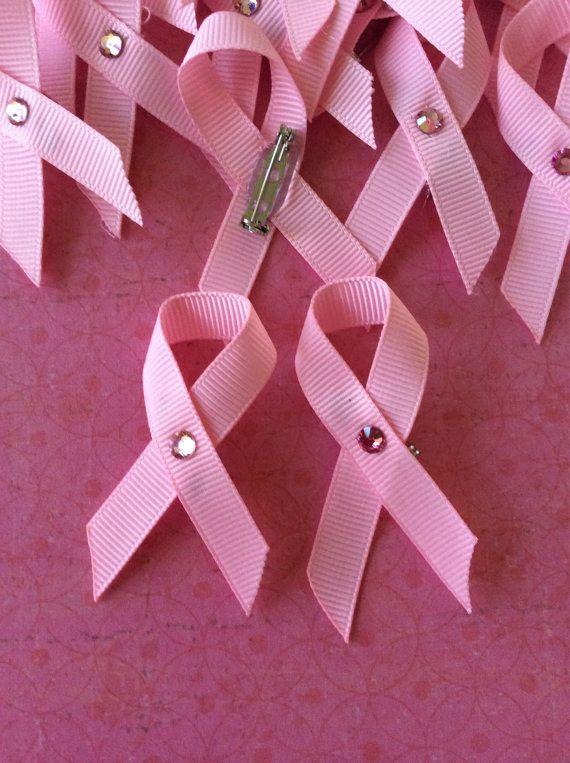 Cancer Ribbon Pin, Cancer Awareness Ribbons, Breast Cancer