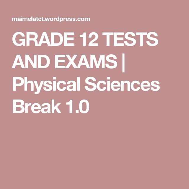 physical science paper 1 grade 12