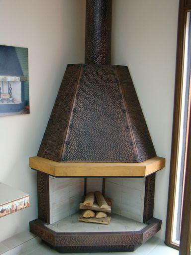 Chimenea esquinera 90 cms llar de foc pinterest - Chimenea rustica de ladrillo ...