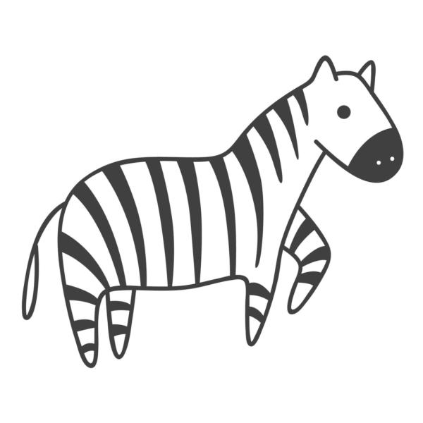Cebras Para Colorear Com Dibujo De Cebra Cebras Cebra