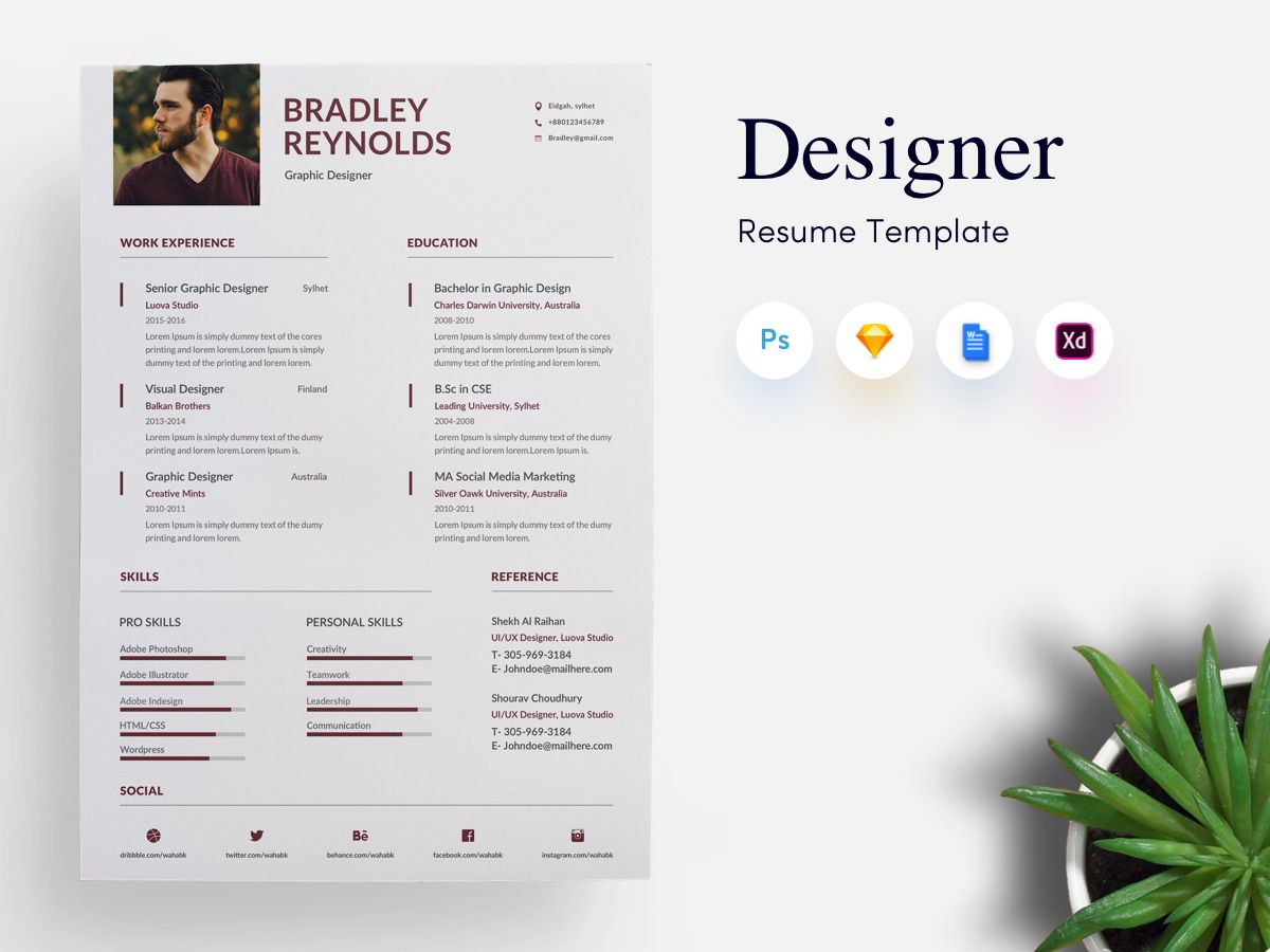 3 Page Designer Cv Resume Template Get Psd Sketch Resume Templates Resume Template Resume Skills Cv Resume Template