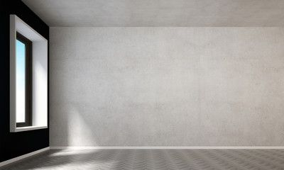 Delightful Empty Living Room And Concrete Wall Texture Background