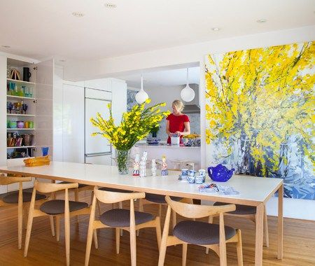 Colourful & Contemporary Dining Space - http://www.woodsmith.ca/colourful-contemporary-dining-space/