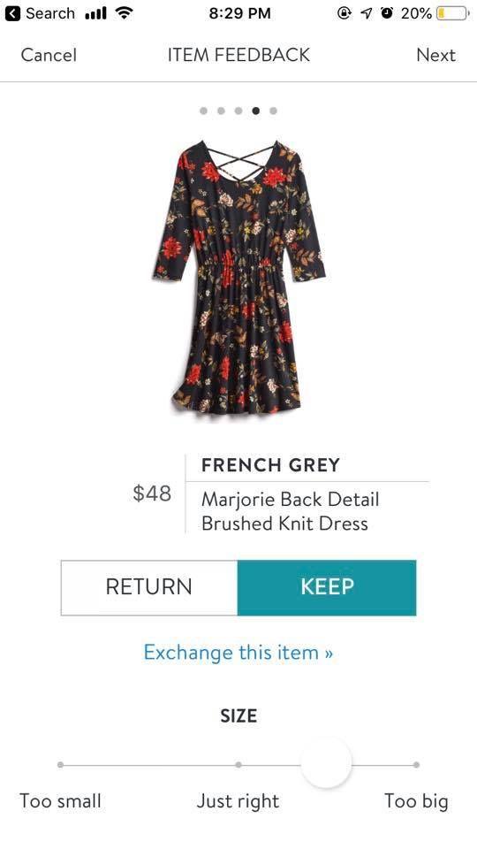 1cd9b1385c66b French Grey Marjorie Back Detail Brushed Knit Dress