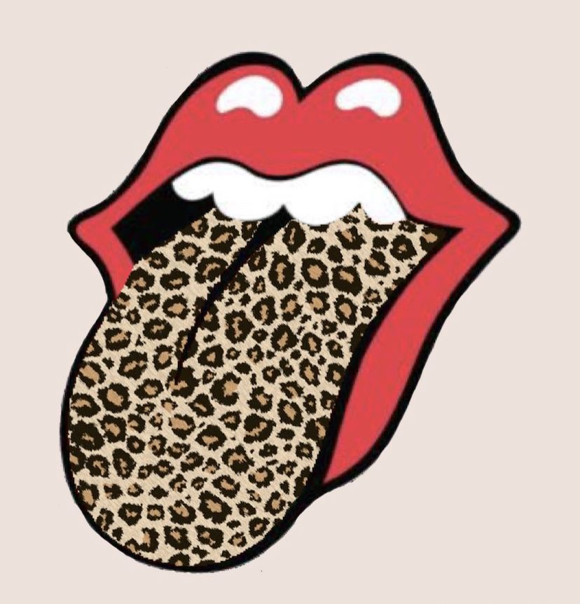 Rolling Stones With Leopard Print Tongue 👅👅🐆 In 2020 Rolling Stones Print Rolls
