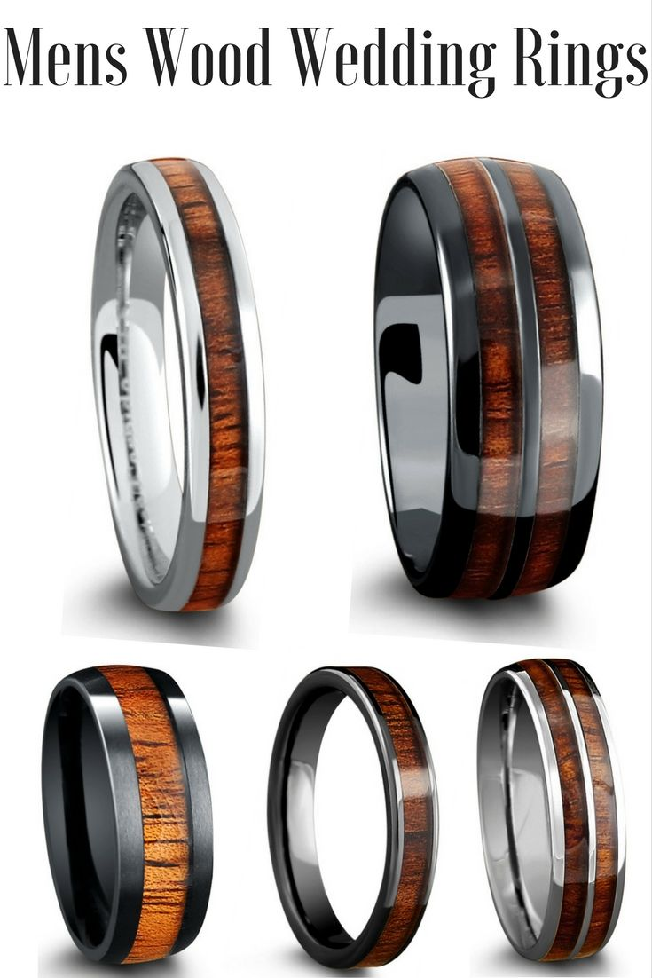 Mens wood wedding rings and womens wood wedding rings These wedding