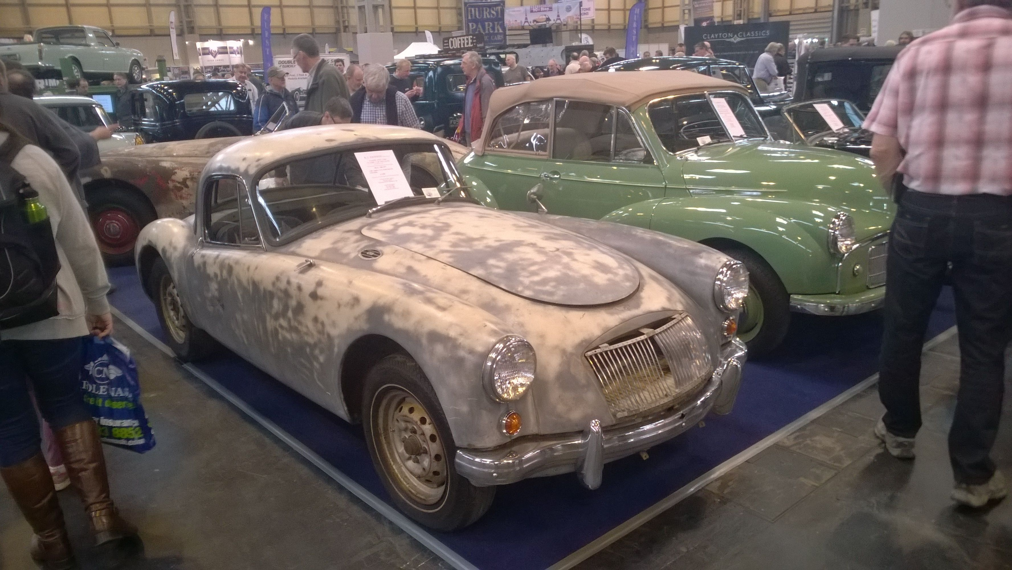 Yet another beautiful car (mg a this time) in need of restoration