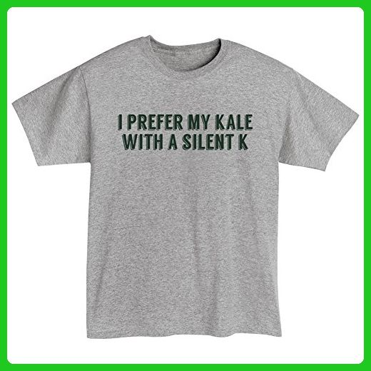 e5fcfb3b9 Unisex-Adult I Prefer My Kale With A Silent K - Ale Beer - T-Shirt - 3X -  Food and drink shirts (*Amazon Partner-Link)