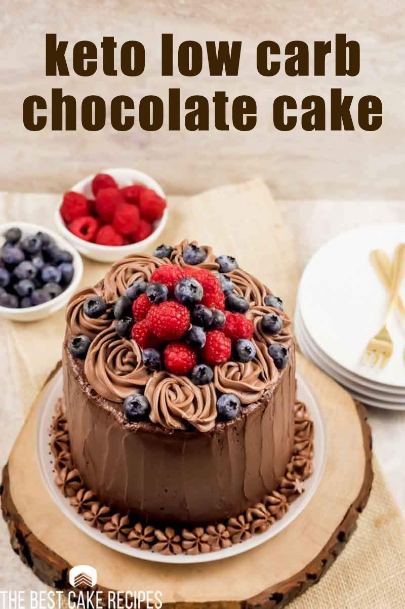 Keto Low Carb Chocolate Cake in 2020 Low carb chocolate