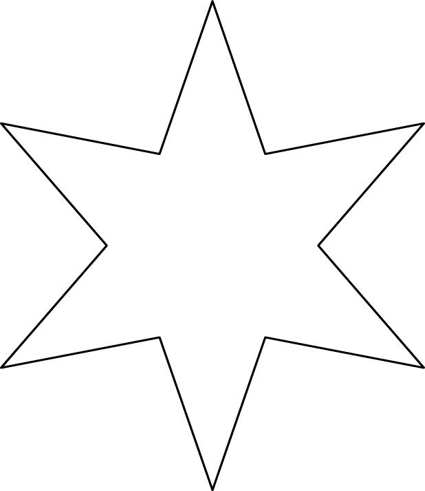 Une toile 6 branches illustration pinterest - Comment dessiner une star ...