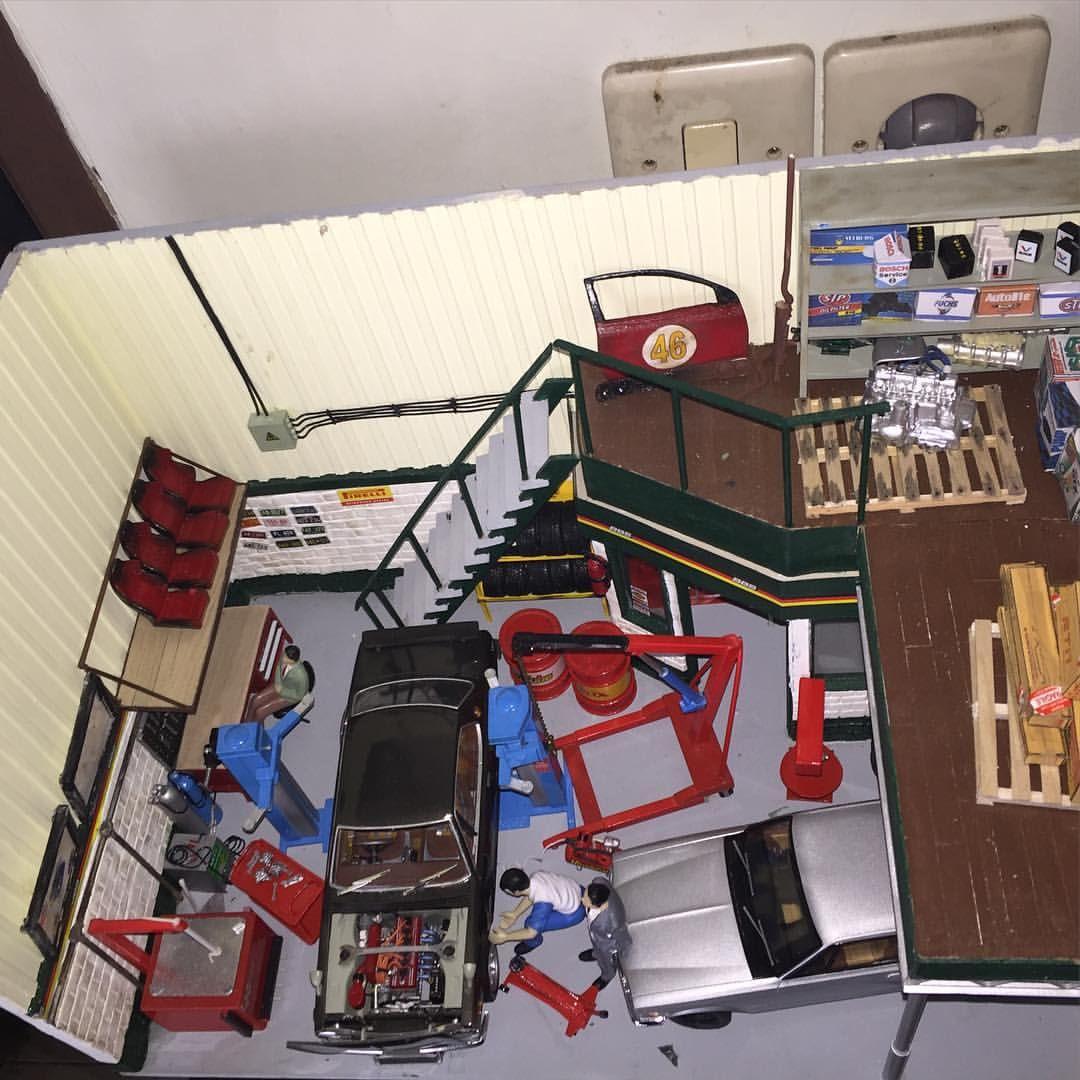 Garage Diorama Scale 1 24 Dioramadiecast Dioramagarage