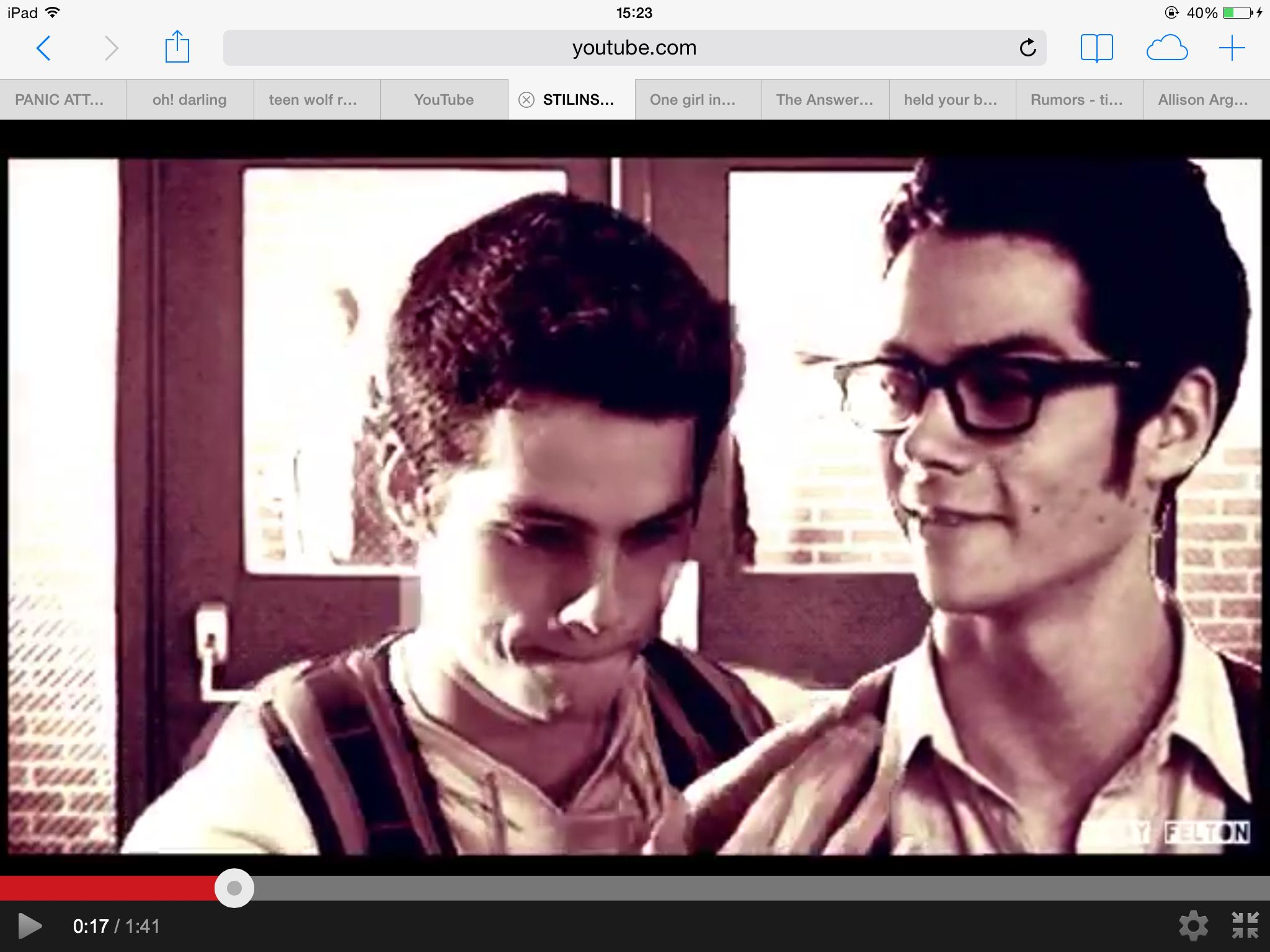 Stiles and Stuart. STILINSKI TWINS
