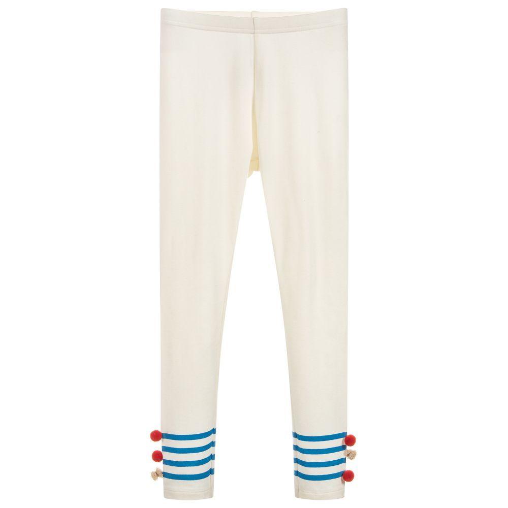 8998146cd266 Girls Ivory Cotton Leggings