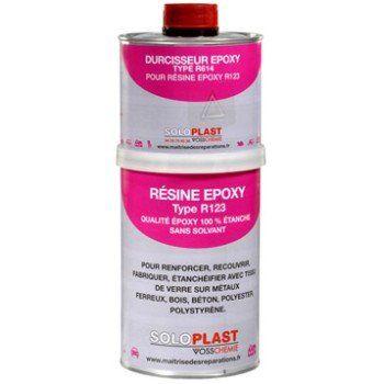 Résine Epoxy Soloplast 1kg Resine Epoxy époxy Et Travaux