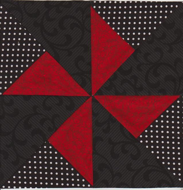pinwheel - this would be a nice design for a little girl's quilt!
