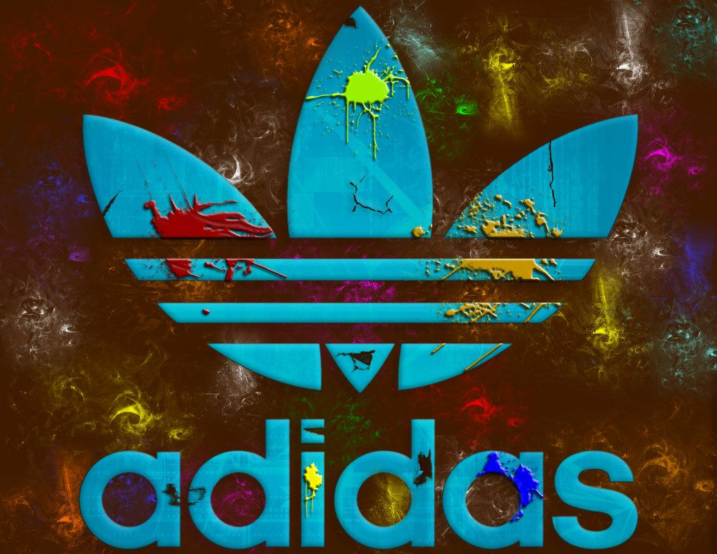 Cool Adidas Logos | Adidas With Colourful Background Wallpaper Logo