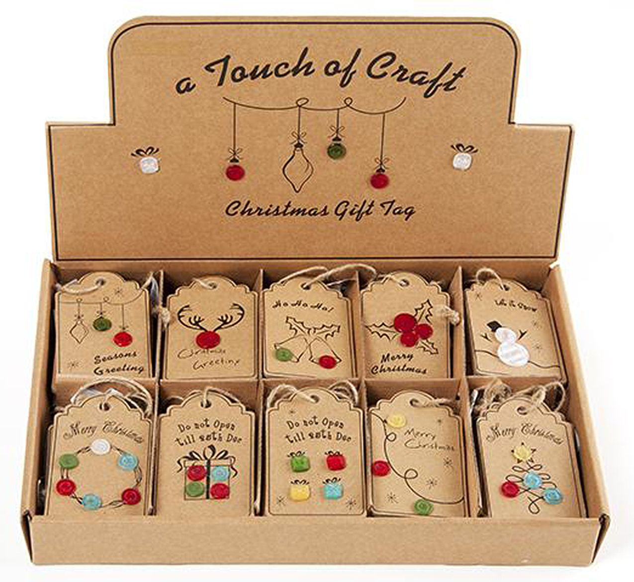 Christmas Sewing Gift Tags Display 60pc