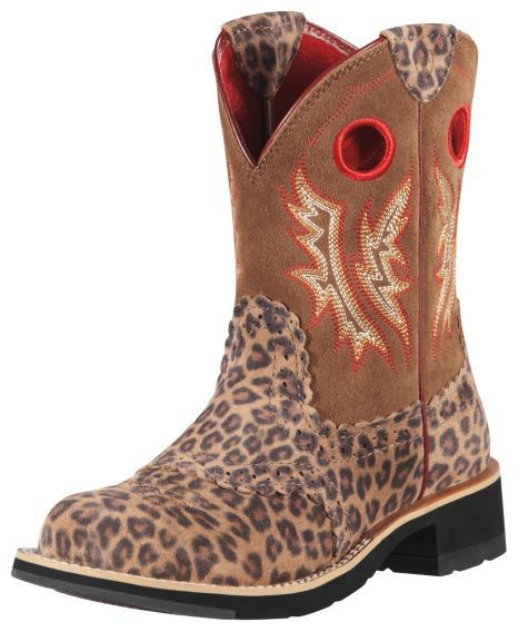 a8b279d9608 Ariat Fatbaby Leopard Print Cowgirl Boots - Round Toe - Sheplers ...