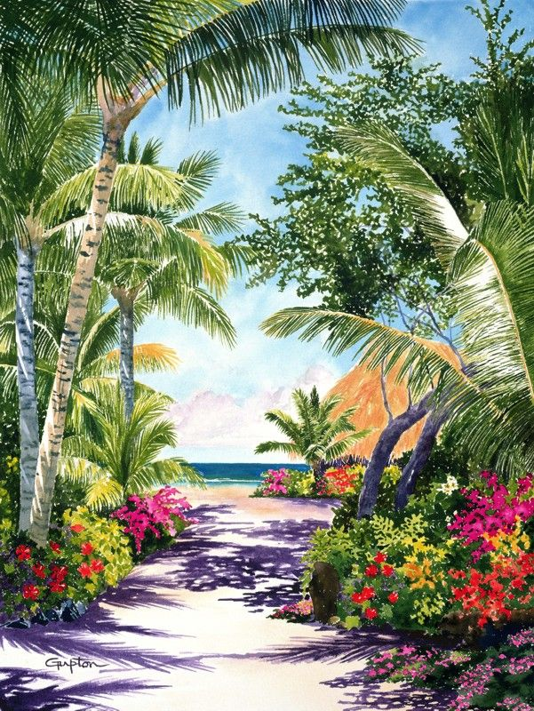 path to paradise 800pixels posters tropical paintings in