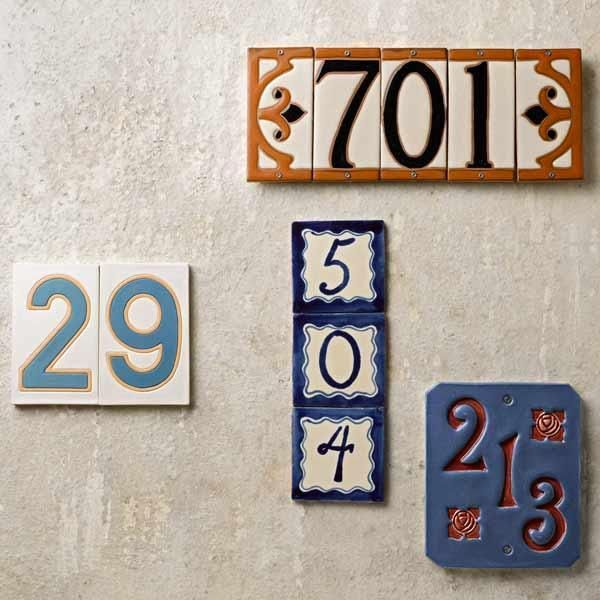 Decorative Tile House Numbers Ceramic Or Tile House Numbers Offer A Mediterranean Look  Takin