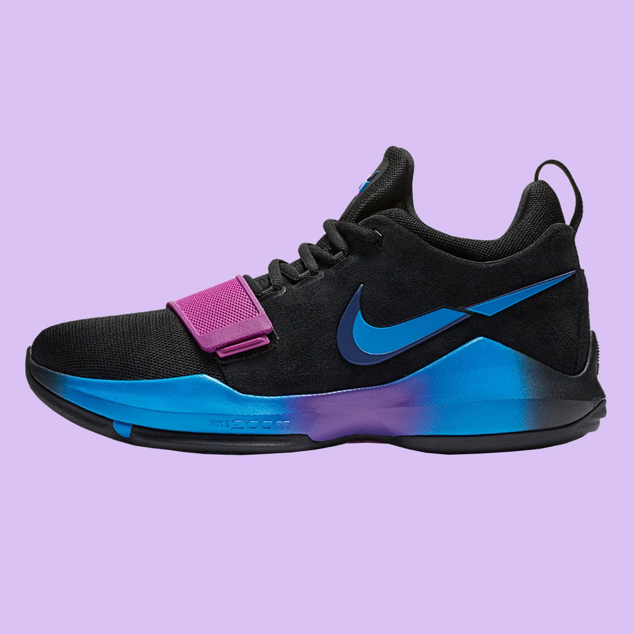 8bf67943b71b Sneakers  Nike  PG1  Black  Blue  Pink  Huge Price   110 USD.