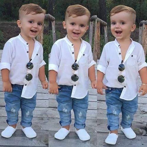 تسريحات شعر اطفال موديلات واستايلات الشعر للأطفال بالصور Baby Boy Outfits Swag Baby Boy Outfits Cute Baby Boy Outfits