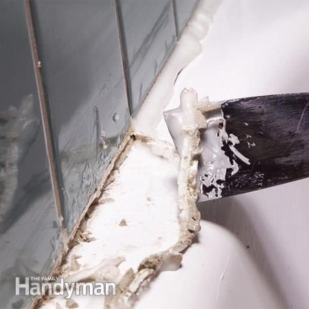 How To Remove Caulk From The Tub Cleaning Painted Walls Cleaning Hacks House Cleaning Tips