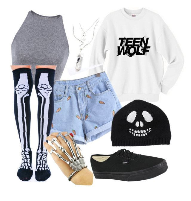 """""""06/10/15"""" by crazymofoxd1 ❤ liked on Polyvore featuring Leg Avenue and Vans"""