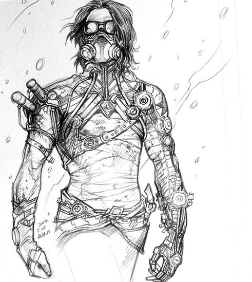 steampunk Bucky (1) by evankart.deviantart.com on ...
