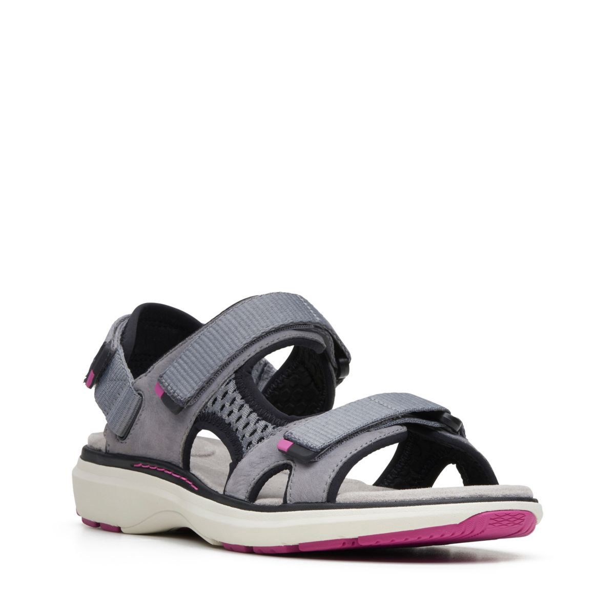 6f3c6e5055b2 Clarks Un Roam Step - Womens Sport Sandals Grey Nubuck 9.5 Gray ...