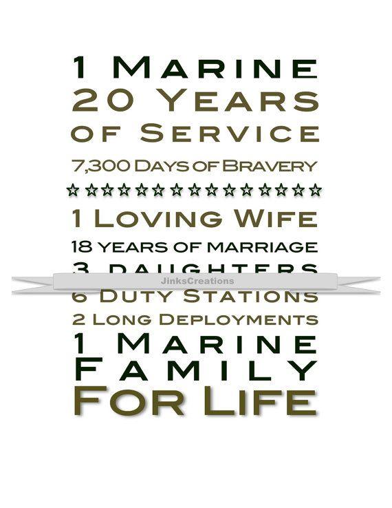 Custom Marine Print Great Gift Idea for Retirement! on Etsy, $900 - retirement programs