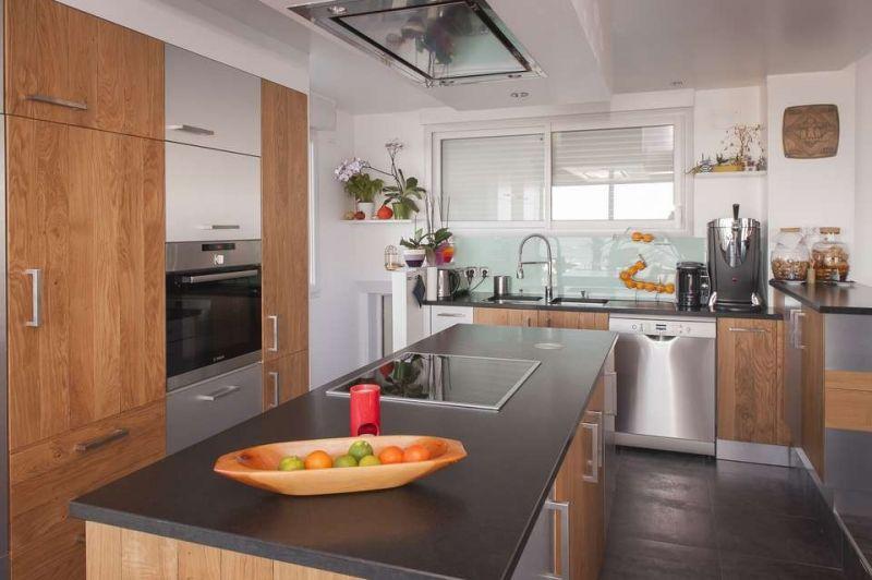 cuisine bois marbré - Recherche Google Plan de travail cuisine