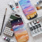 I painted calculators for people 🤧💞 - - - It was actually so fun to make... -  - #calculators #Fun #painted #people