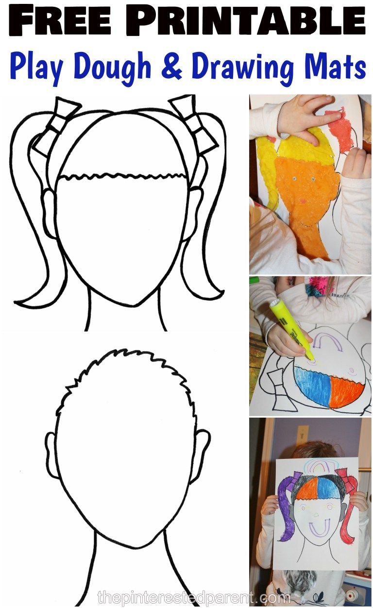 Printable Face Play Dough Mats | Pinterest
