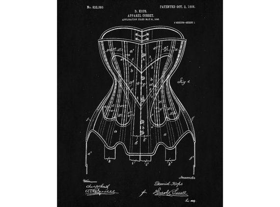Corset poster corset art design corset print corset blueprint sewing corset poster corset art design corset print corset blueprint sewing room decor malvernweather Images