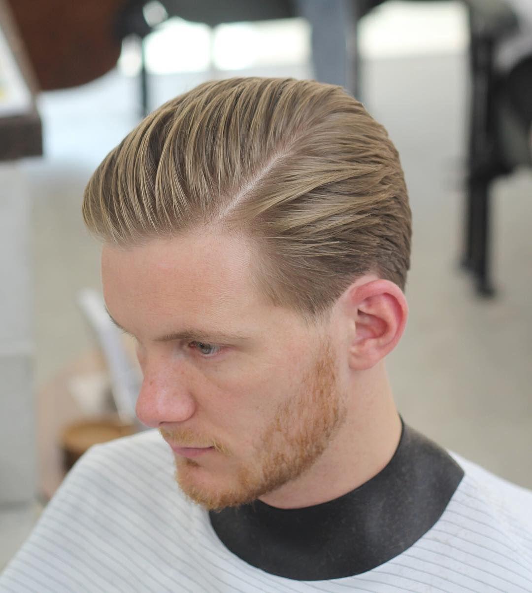 Mittellanger Haarschnitt Seitenscheitel Men S Fashion Herren