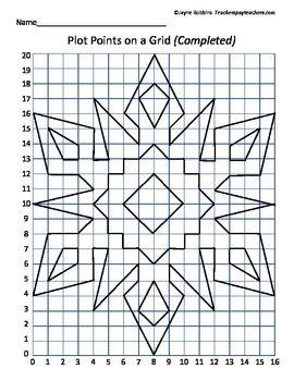 plot points on a grid snowflake coordinates classroom doodads fifth grade math 8th grade. Black Bedroom Furniture Sets. Home Design Ideas