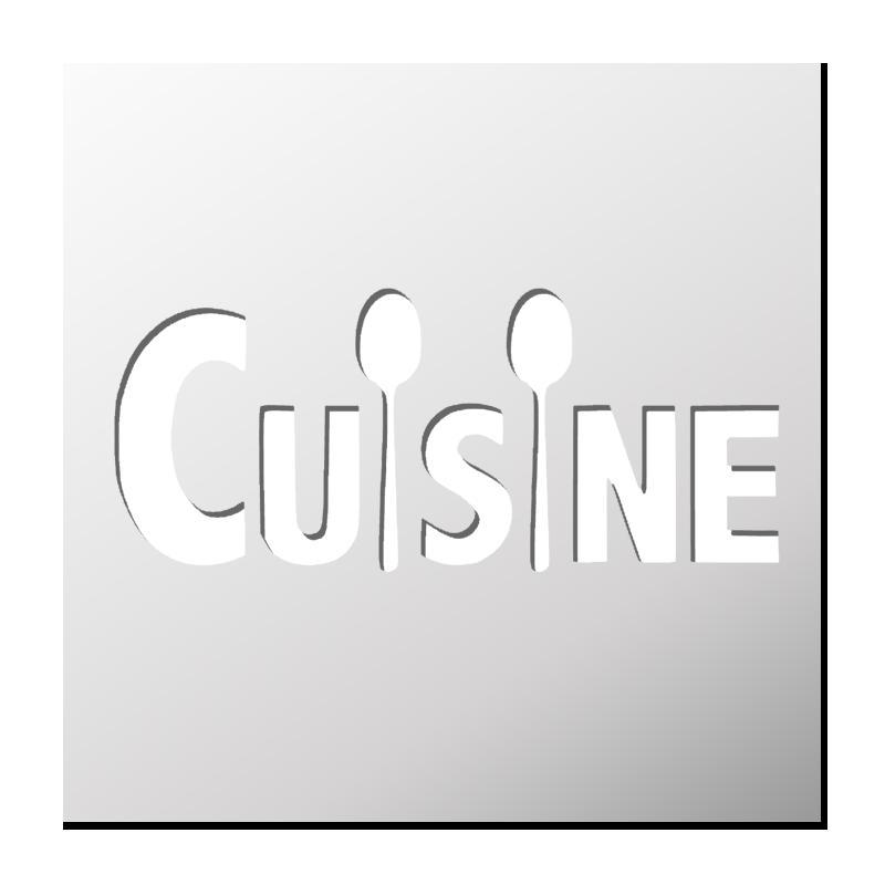 Pochoir cuisine boutique pochoirs stickers for Pochoir cuisine