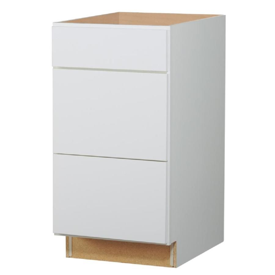 Diamond Now Arcadia 18 In W X 35 In H X 23 75 In D Truecolor White Drawer Base Stock Cabinet Lowes Com Stock Cabinets Cabinet White Drawers
